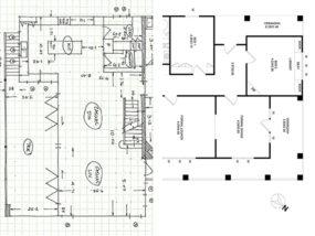 schwarz-weiß Grundriss, Architekturbilder, Schwarz-weiß