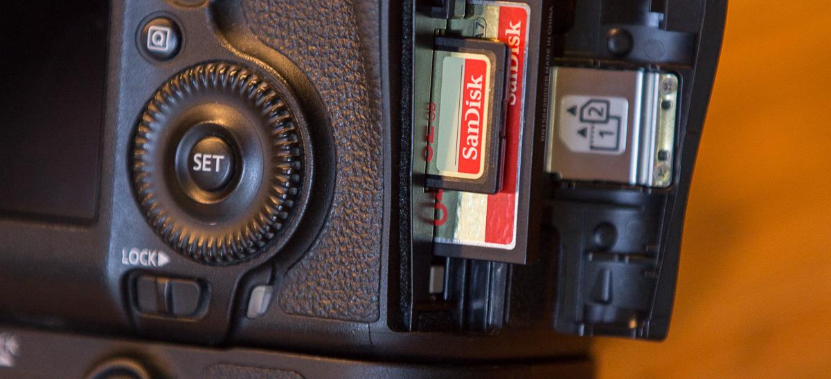 Speicherkarten in der Kamera
