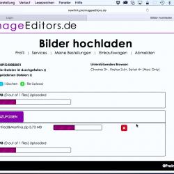 Bestellung via Web-Uploader hochladen - Video 6