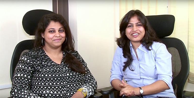 Kundenbetreuung: Nikita und Dhanshree