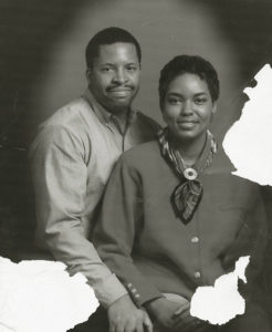 Schwarz-Weiß Bild, Ehepaar